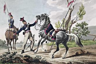 Русские уланы. 1813-14 годы