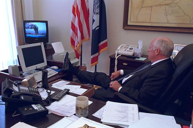 Вице-президент Дик Чейни в Белом доме 11 сентября 2001 года