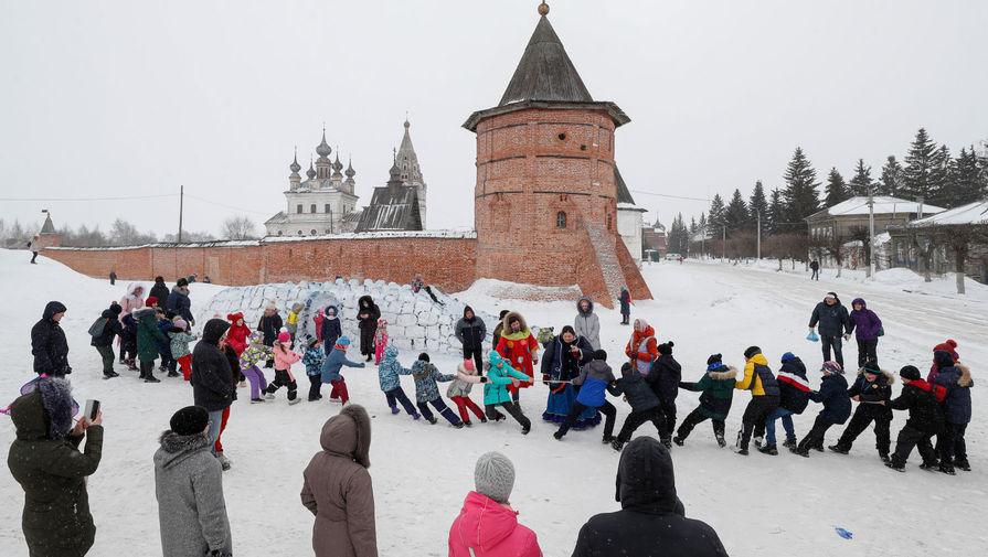 Празднование Масленицы в городе Юрьев-Польский Владимирской области