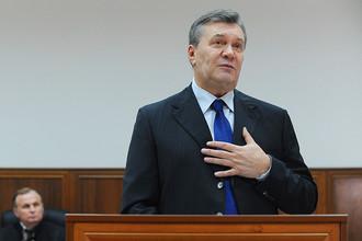 Бывший президент Украины Виктор Янукович в Ростовском областном суде, 28 ноября 2016 года