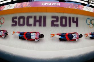 Российский скелетонист на Олимпиаде в Сочи, 2014 год