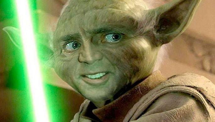 Магистр Йода с лицом Николаса Кейджа, ужасный коллаж