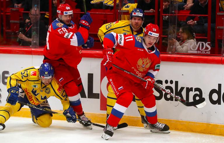 Эпизод матча Швеция — Россия на Евротуре