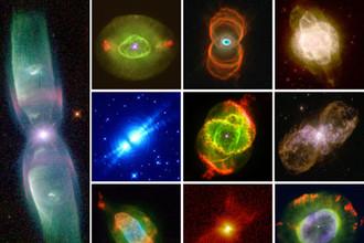 Планетарные туманности – сброс оболочки в конце жизни маломассивной звезды.