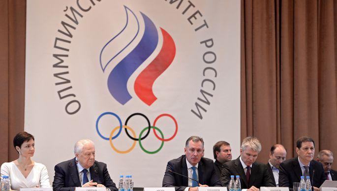 Генеральный секретарь Олимпийского комитета России (ОКР) Анастасия Давыдова, почетный президент ОКР...