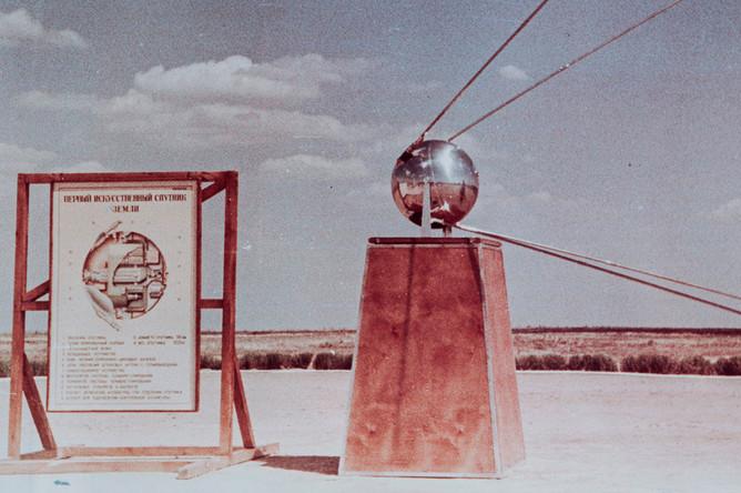 Макет первого спутника на испытательном полигоне
