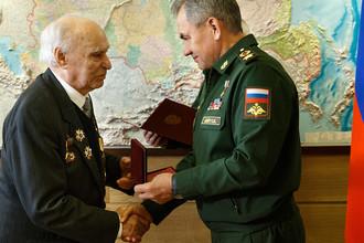 Награждение ветерана Великой Отечественной войны Шириня Кирилла Кирилловича