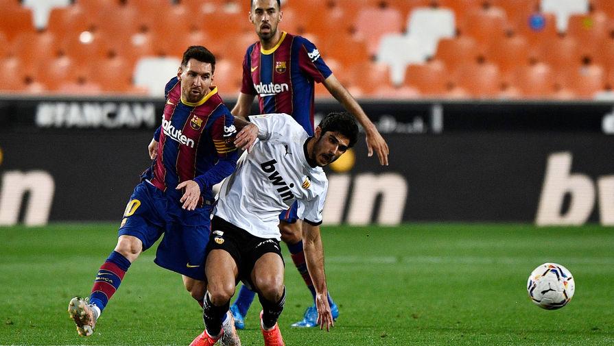 Эпизод матча «Валенсия»- «Барселона»