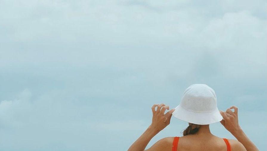 Виктория Синицина в купальнике на отдыхе на Мальдивах