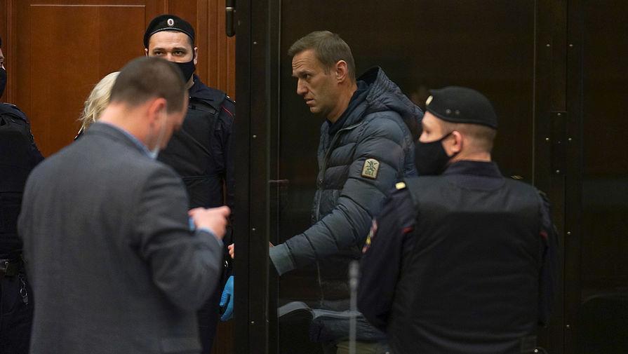 Алексей Навальный во время заседания Мосгорсуда, 2 февраля 2021 года
