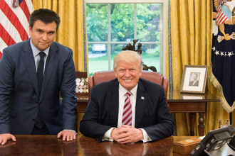 Глава МИД Украины Павел Климкин и президент США Дональд Трамп