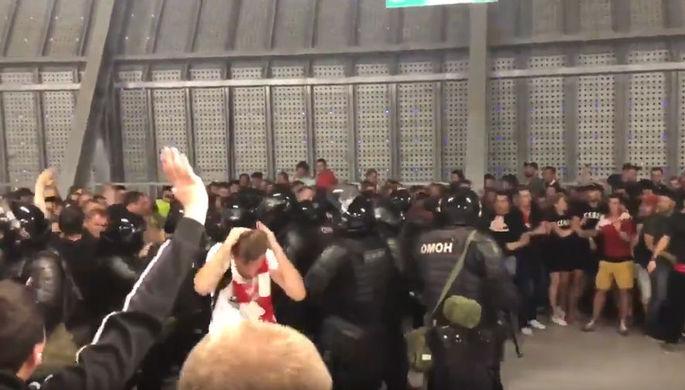 Инцидент с болельщиками «Спартака» в Ростове-на-Дону