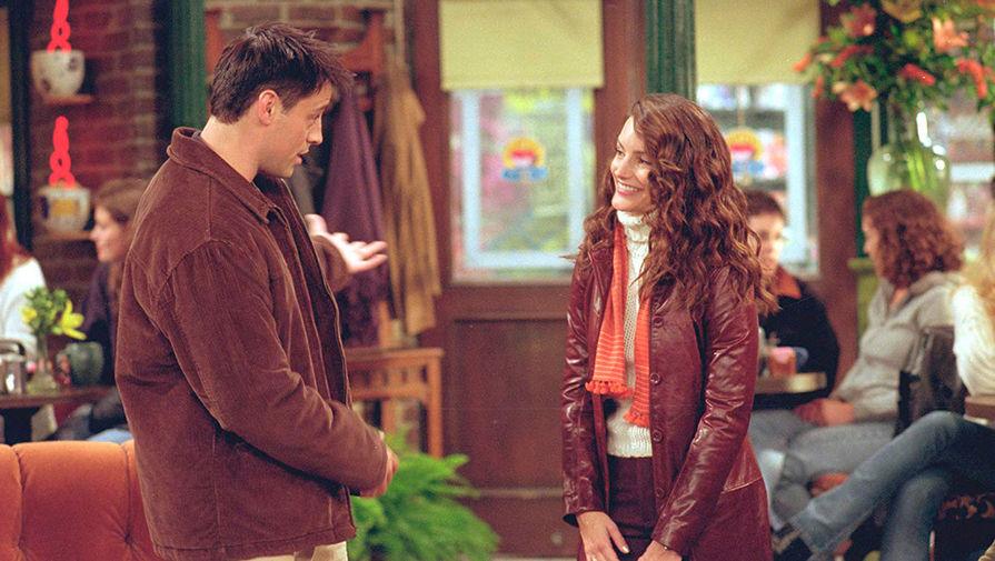 Кристин Дэвис и Мэтт Лебланк в сериале «Друзья» (1994 – 2004)
