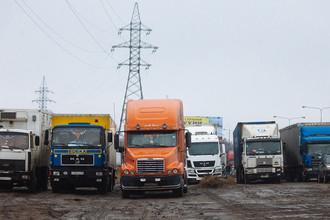 Акция протеста дальнобойщиков в Московской области