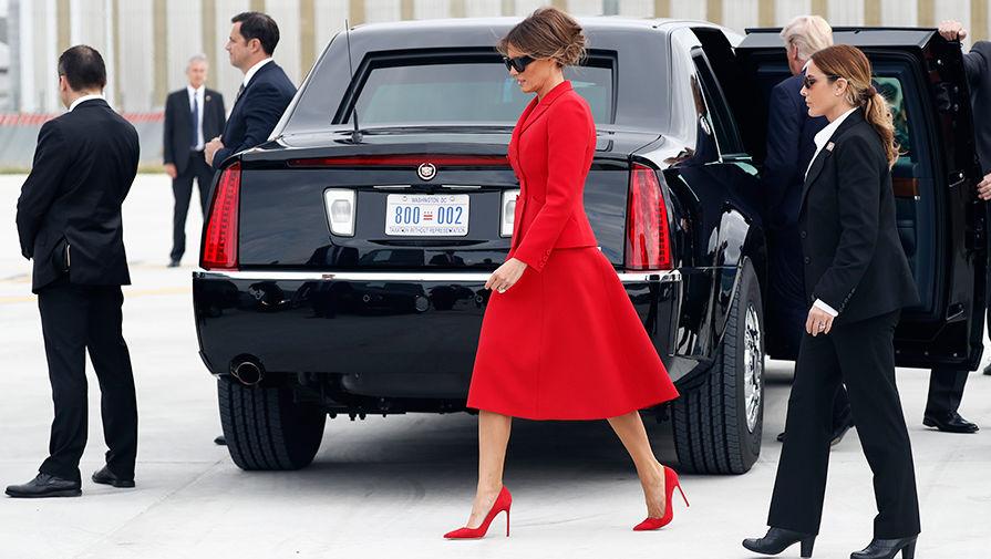 Меланья Трамп во время официального визита в Париж