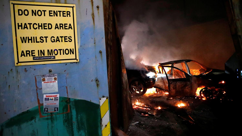 Последствия беспорядков в Белфасте, Северная Ирландия, 7 апреля 2021 года