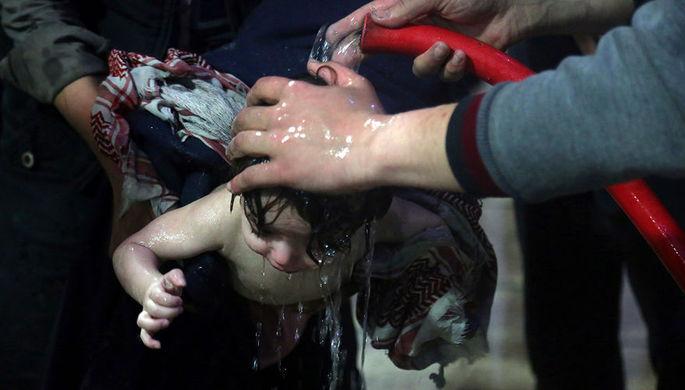 Кадр из видео предоставленного организацией «Белые каски»