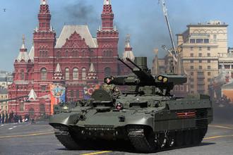 Боевая машина поддержки танков (БМПТ) «Терминатор» на Красной площади во время военного парада, посвященного 73-й годовщине Победы в Великой Отечественной войне, 9 мая 2018 года
