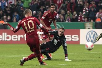 Арьен Роббен стал главным героем матча «Бавария»- «Кайзерслаутерн»