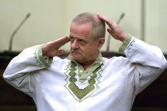 Полковник ГРУ в отставке Владимир Квачков в зале заседаний Лефортовского суда Москвы, 2012 год