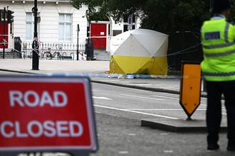 Полиция на Рассел-сквер в центре Лондона