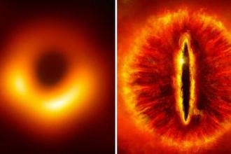 Черная дыра и Всевидящее Око Саурона (коллаж)