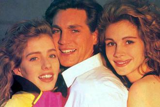 Эрик Робертс с сестрами Лизой (слева) и Джулией (справа)