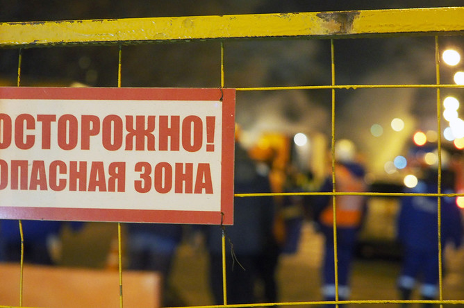 На месте прорыва теплотрассы ТЭЦ №23 в Гольяново, 30 ноября 2017 года