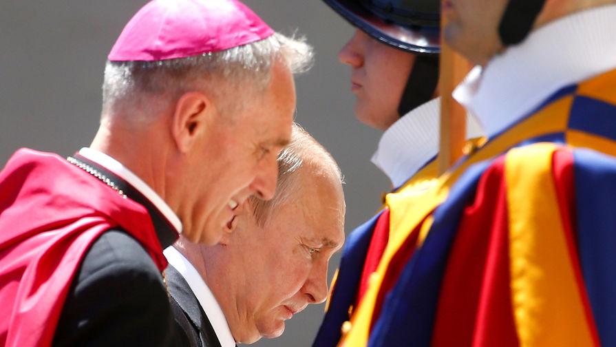 Путин рассказал о наставлении от папы Римского