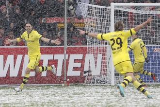 Снегопад не помешал «Боруссии» победить «Фрайбург»
