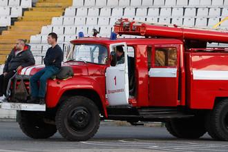 Пожарная машина на месте