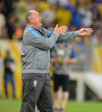 Главный тренер бразильцев Луис Фелипе Сколари.