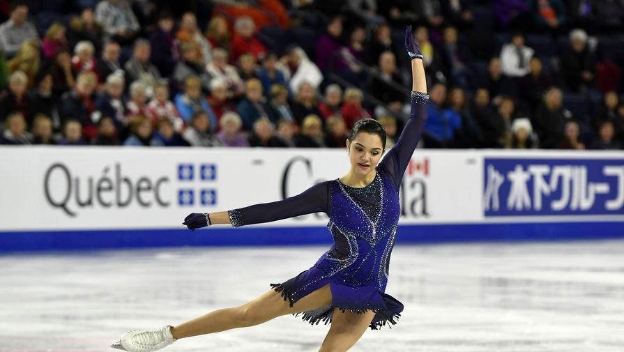Выступление Евгении Медведевой в короткой программе на Skate Canada обернулось почти катастрофой