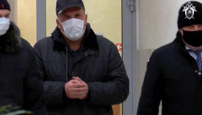 Во время задержания аудитора Счетной палаты Российской Федерации Михаила Меня, 18 ноября 2020 года (кадр из видео)