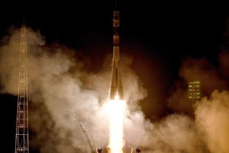 Пуск ракеты-носителя «Союз-ФГ» с кораблем «Союз МС-08» на космодроме «Байконур», 21 марта 2018 года