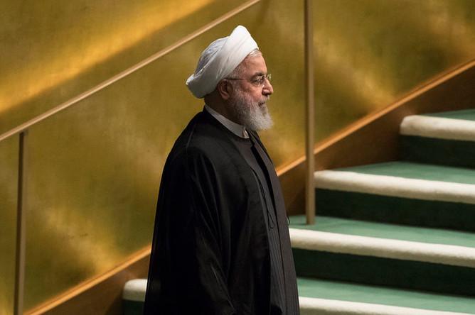Президент Ирана Хасан Рухани, 25 сентября 2018 года