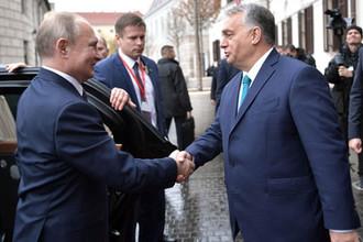 Президент России Владимир Путин и премьер-министр Венгрии Виктор Орбан, 30 октября 2019 года