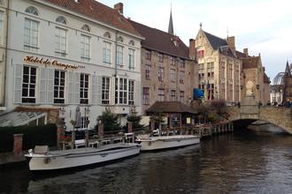 Вид на Брюгге и его каналы