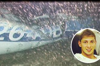 Обломки самолета на котором летел Эмилиано Сала, 4 февраля 2019 года