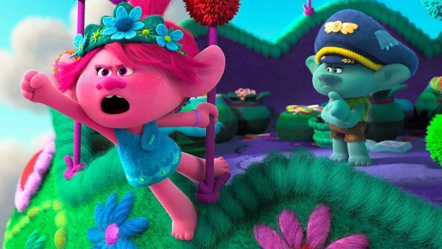 Кадр из мультфильма «Тролли. Мировой тур» (2020)