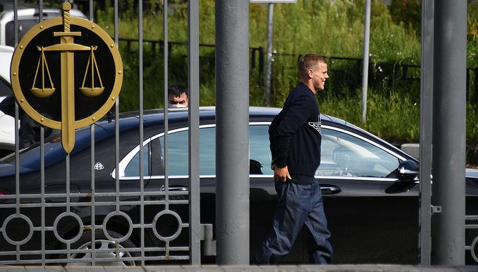Брат футболиста Александра Кокорина Кирилл Кокорин во время заседания Пресненского районного суда Москвы, 9 апреля 2019 года