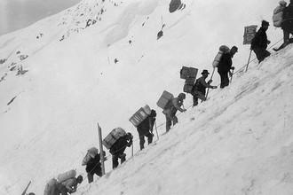 Старатели во время золотой лихорадки на Юконе