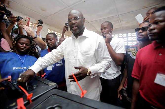 Джордж Веа на выборах президента Либерии
