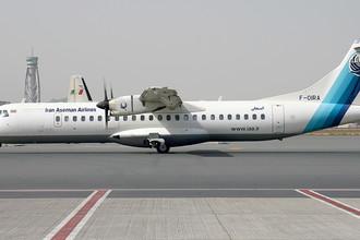 Самолет ATR 72-500 авиакомпании Iran Aseman Airlines