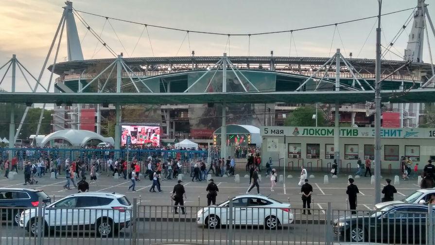 Ситуация у стадиона «Локомотив», 5 мая 2018 года