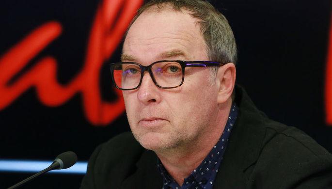 Кинорежиссер Сергей Урсуляк на пресс-конференции в Москве, апрель 2017 года
