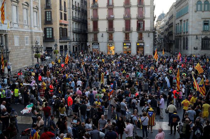 Столкновения с полицией в Барселоне, 29 сентября 2018 года