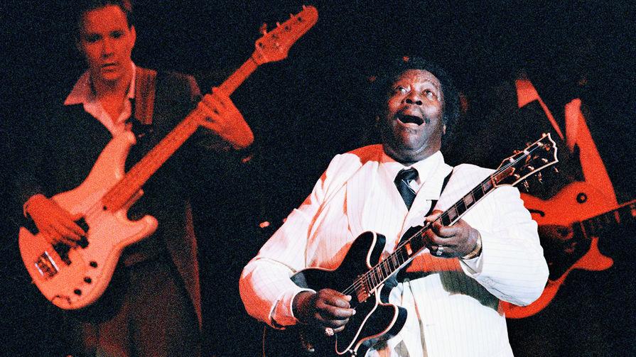 Би Би Кинг во время выступления в Нью-Йорке, 1986 год
