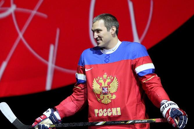 Александр Овечкин на презентации новой формы сборной России