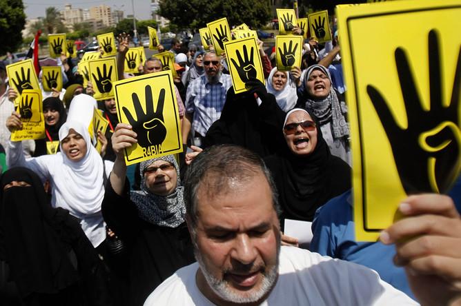 Митинг движения «Братья-мусульмане» в Египте 30 августа 2013 года